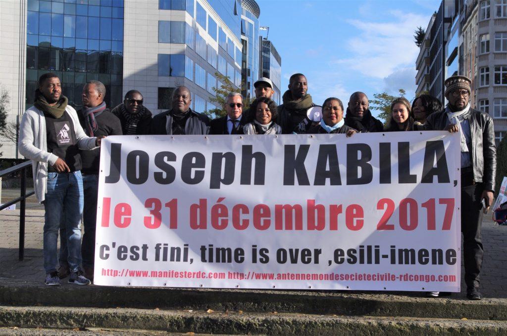 RDC-UE : La diaspora congolaise de Belgique en sit-in devant le siège de l'Union Européenne