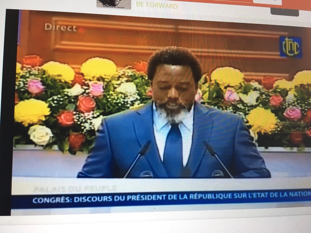 RDC : Discours de Kabila devant le Congrès : entre autosatisfaction et sa passion pour le Congo sans perspectives