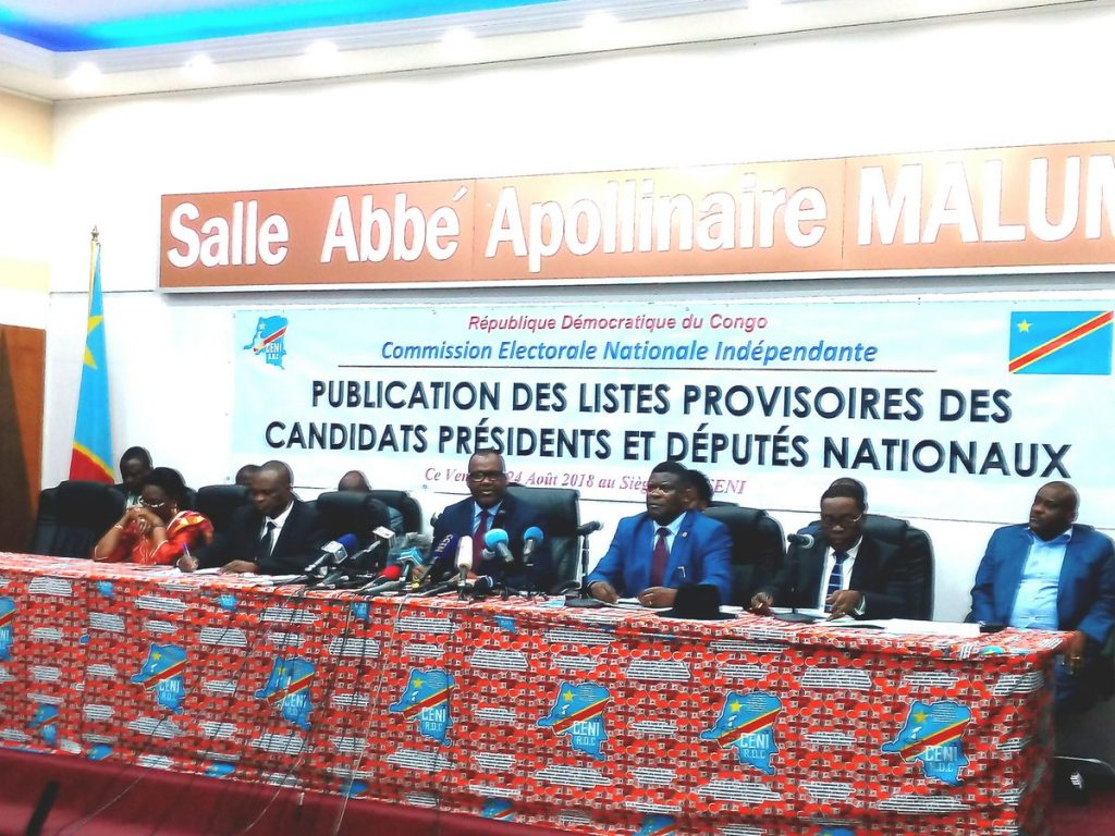 RDC-ELECTIONS 2018 : Un numéro d'ordre attribué à chaque candidat président