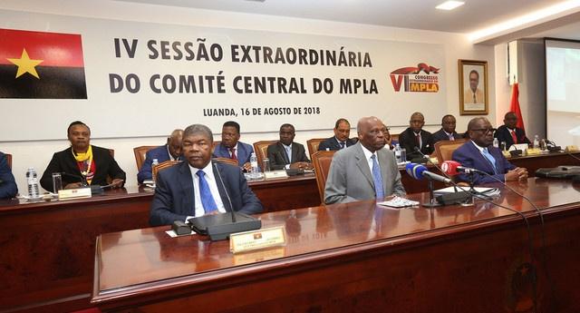 ANGOLA : La 7ème Session ordinaire du Comité Central du MPLA adopte l'entrée de 134 nouveaux membres